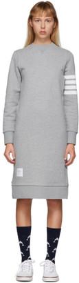 Thom Browne Grey 4-Bar Sweater Dress