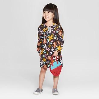 Cat & Jack Toddler Girls' A-Line Dress - Cat & JackTM Charcoal