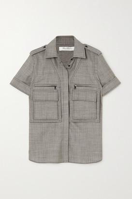 Max Mara Dovere Wool-blend Shirt - Gray