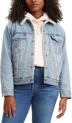 Levi's Levis(R) Ex-Boyfriend Faux Shearling Lined Denim Jacket