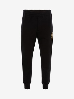Alexander McQueen Crystal Embroidered Sweatpants