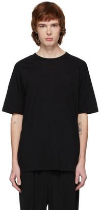 The Viridi-anne The Viridi Anne Black Cotton and Cashmere T-Shirt