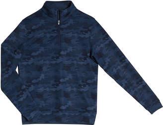 Peter Millar Boy's Perth Camo Quarter-Zip Sweater, Size XS-XL
