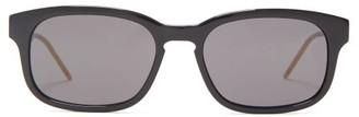 Gucci Rectangular Acetate Sunglasses - Mens - Black