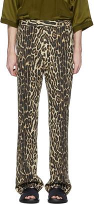 Dries Van Noten Brown and Black Leopard Trousers
