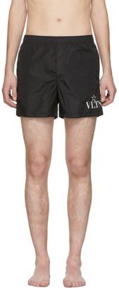 Valentino Black VLTN Star Swim Shorts