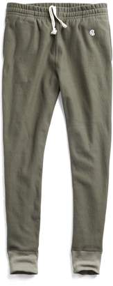 Todd Snyder + Champion Reverse Weave Slim Sweatpant With Rib Contrast in Olive