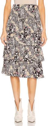 Etoile Isabel Marant Cencia Skirt in Black & Beige | FWRD