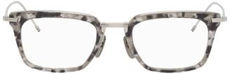Thom Browne Grey Tortoiseshell TBX916 Sunglasses