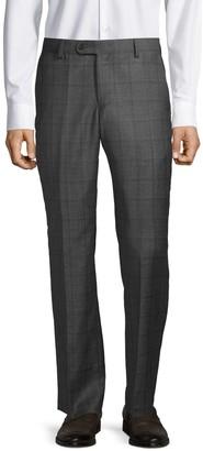 Saks Fifth Avenue Plaid Wool Pants