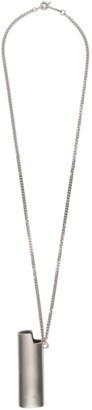 Ambush SSENSE Exclusive Silver Large Lighter Case Necklace