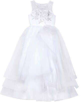 Us Angels Embroidered Organza Communion Dress
