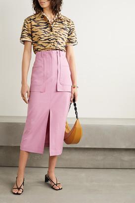 REJINA PYO Ellie Cotton-blend Midi Skirt - Baby pink