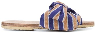 Brother Vellies Burkina Papaye stripe sandals