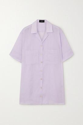 Joseph Brani Oversized Ramie Shirt - Lilac
