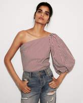 express-striped-one-shoulder-blouse