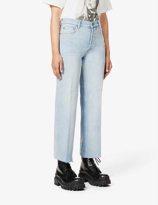 Boyish The Mikey wide-leg high-rise organic cotton-blend denim jeans