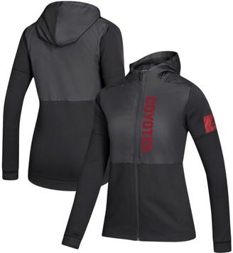 adidas Women's Black Arizona Coyotes Game Mode Full-Zip Jacket