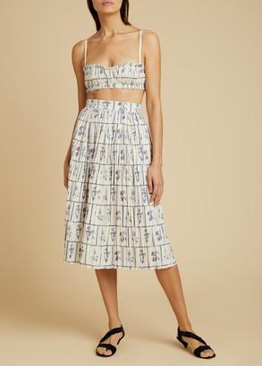 KHAITE The Sylvia Skirt in Floral Tile