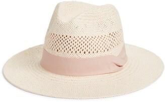 Halogen Open Weave Straw Panama Hat