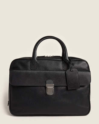 Giorgio Armani Black Perforated Briefcase