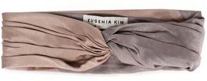 Eugenia Kim Malia Twisted Two-tone Satin-crepe Headband