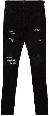 Amiri Hawaiian Patch Jean in Aged Black   FWRD