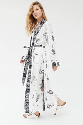 Urban Outfitters Mia Mixed Print Robe