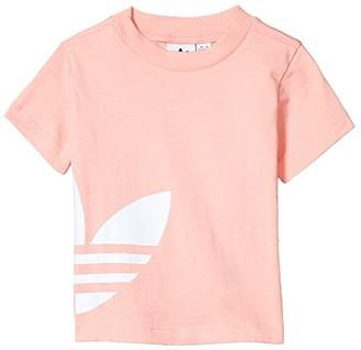 adidas Kids Big Trefoil Tee (Infant/Toddler) (Glory Pink/White) Kid's Clothing