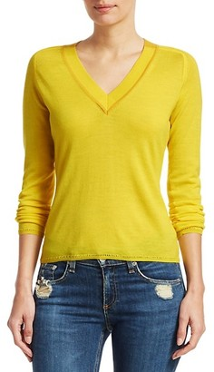 Rag & Bone Pamela Merino Wool Knit V-Neck Sweater