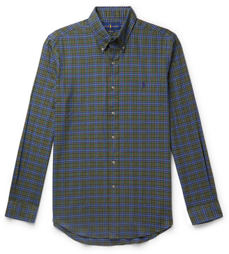 Polo Ralph Lauren Button-Down Collar Checked Cotton-Flannel Shirt