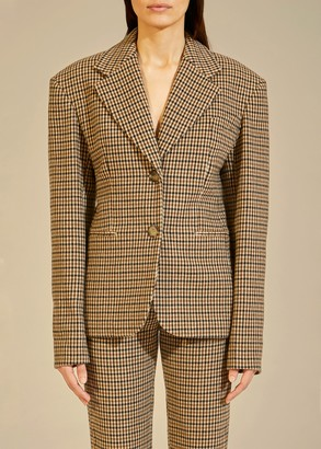 KHAITE The Kendall Blazer in Brown Check