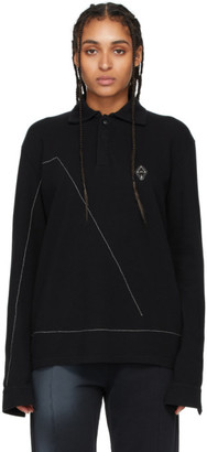 A-Cold-Wall* Black Rhombus Badge Long Sleeve Polo