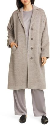 Eileen Fisher Wool & Alpaca Blend Long Coat