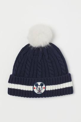 H&M Cable-knit Hat - Blue
