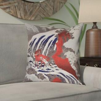 "Yasmina Pillow Cover Bloomsbury Market Size: 14"" x 14"""