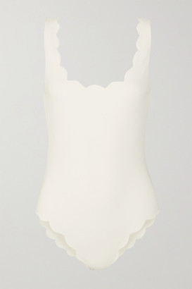 Marysia Swim Palm Springs Scalloped Swimsuit - Ivory