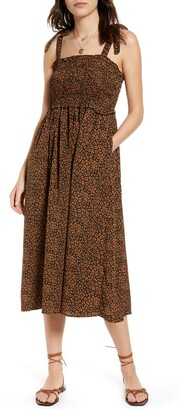 Treasure & Bond Tie Shoulder Midi Sundress