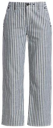 Rag & Bone Buckley Stripe Cropped Jeans
