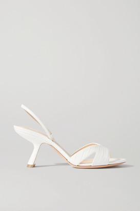 Nicholas Kirkwood Lexi Croc-effect Leather Slingback Sandals - White