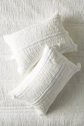 Anthropologie Textured Bardot Shams, Set of 2 By in White Size S2 qn sham