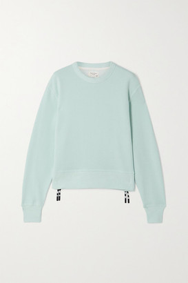 Rag & Bone Frankie Zip-embellished Cotton-blend Jersey Sweatshirt - Blue