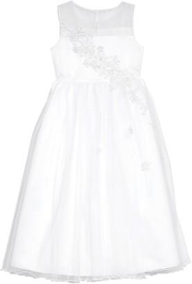 Iris & Ivy Floral Applique Tulle Dress