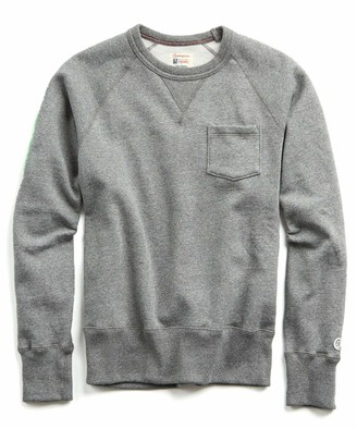 Todd Snyder + Champion Fleece Pocket Sweatshirt in Salt and Pepper