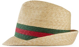 Gucci Woven straw fedora