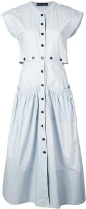 Proenza Schouler Short Sleeve Shirt Dress