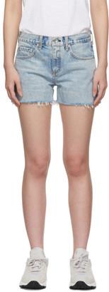Rag & Bone Blue Denim Boy Shorts