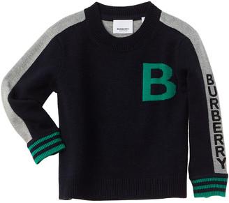 Burberry B Motif Jacquard Wool Sweater