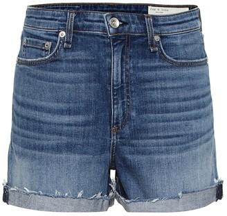 Rag & Bone Nina high-rise denim shorts