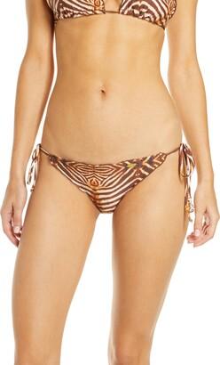 Luli Fama Wavy Puerto Aventura Brazilian Ruched Bikini Bottoms